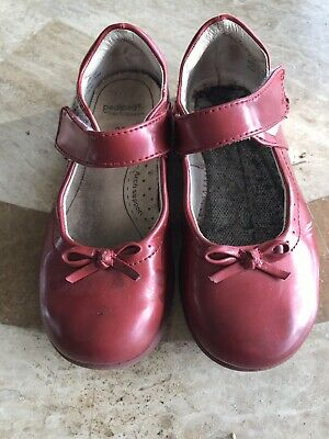 Pediped Red Patent Mary Janes Kids Shoes With Bow 29 EU 11.5 US
