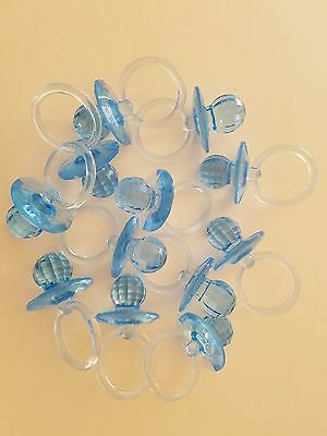 24 pcs Blue Large Fancy Pacifiers Baby Shower Game Favors Prizes Decorations](Blue Baby Game)
