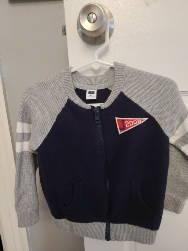 Janie and Jack Toddler Boys Zip Up Varsity Sweater 2T