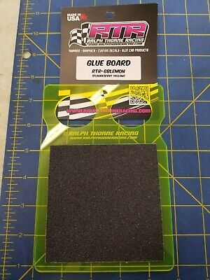 Ralph Thorne Racing Glue Board LEMON (fluorescent yellow) 1/24 Drag -Mid America, used for sale  Bloomington