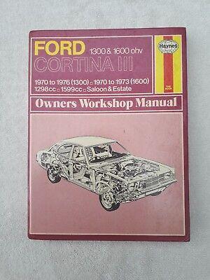 Haynes Manual Ford Cortina III 1300 & 1600 ohv 1970-1976