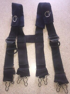 Lion Apparel Firefighter Suspenders Navy Blue And Black Padded
