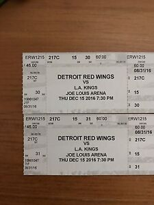 Two tickets Los Angeles at Detroit