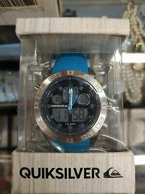 Quicksilver the Fifty50 Mens Surf Black Silicone Strap Turquoise Watch