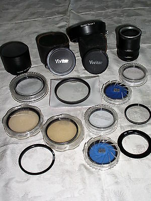 Huge Lot of Assorted Lens Filters, Converters, Hoods, Rings & Extension Tubes