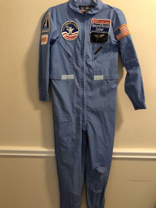 Vintage Authentic NASA US Space Camp Patches Blue Suit Collector