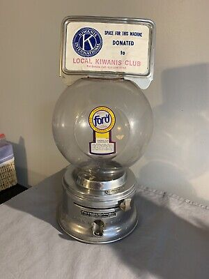 VINTAGE FORD  1 CENT GUMBALL MACHINE (NO KEY)