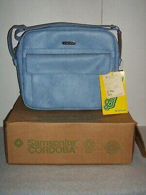 Vintage Samsonite® Cordoba™ ~ Gulf Blue ~ Soft Side Tote Bag ~ New w/ Tags & Box