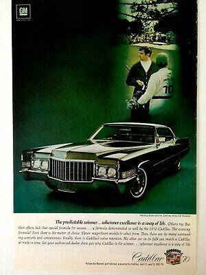 1969 Cadillac 2 Door Hardtop Sedan DeVille Vintage Print Ad 10