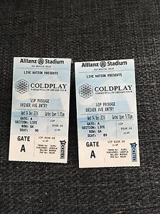 2x VIP Coldplay Sydney Canterbury Canterbury Area Preview