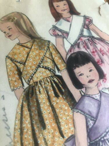 Vintage 1961 1960s VOGUE Sewing Pattern Girl Size 7 Dress Petticoat Frock 5194