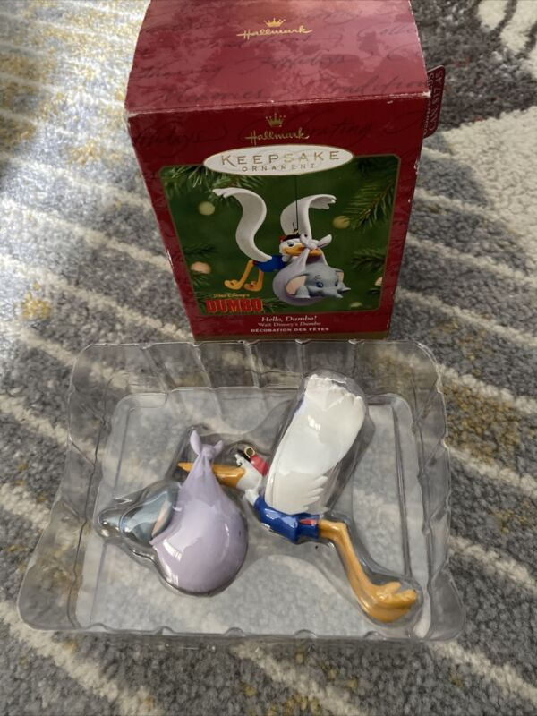 Hello, Dumbo 2001 Hallmark Keepsake Ornament Disney 60th Anniversary 1941 - 2001