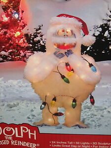 Rudolph 24 for Abominable snowman christmas light decoration