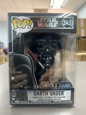 Funko Pop Star Wars Darth Vader Electronic #343 w/ Protector IN STOCK