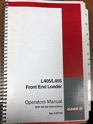 Case Ih L405l455 Front End Loader Operators Manual