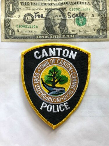 Canton Connecticut Police Patch Un-sewn great shape