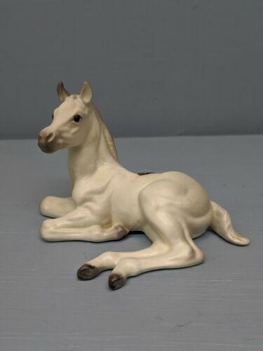 Old Monrovia Hagen Renaker White DW Arabian Foal Fez w/ Sticker