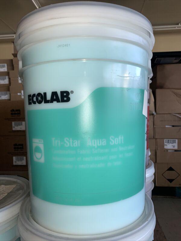 5 US GAL ECOLAB Tri-Star AQUA SOFT FABRIC SOFTENER NEUTRALIZER Bucket 6112081