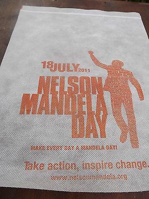 Nelson Mandela Day 2011 Aircraft head rest cover RARE RARE