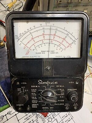 Vtg Simpson 260 Series 2 Vom Volt-ohm-milliammeter Multimeter