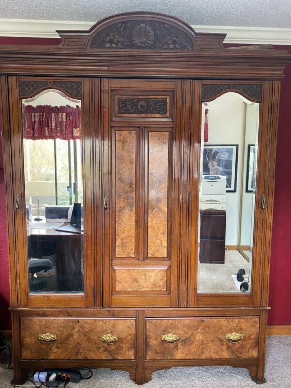 antique armoire closet wardrobe