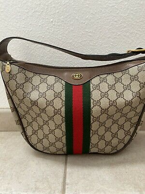 GUCCI Vintage Sherry Line Web GG Accessory Collection Shoulder Hobo Bag Ophidia