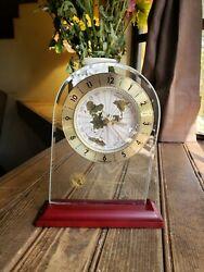 Vintage Howard Miller World Time Desk Clock PRM Florida Works!