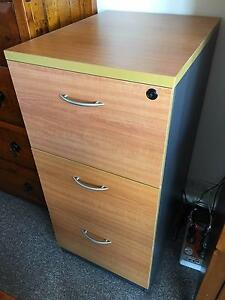 Collins three drawer filing cabinet in near-new condition Kirribilli North Sydney Area Preview