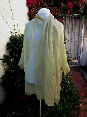 Romeo Gigli VTG 1989 Italy crinkled chiffon wrap huge shawl collar diaphanous