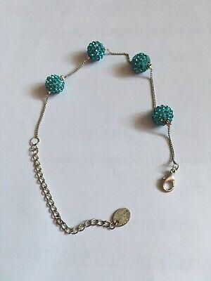 Bling Bracelet - Rhinestone Blue Balls Bling Ball Bracelets