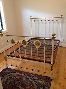Antique vintage beds iron brass inlaid negotiable Gladesville Ryde Area Preview