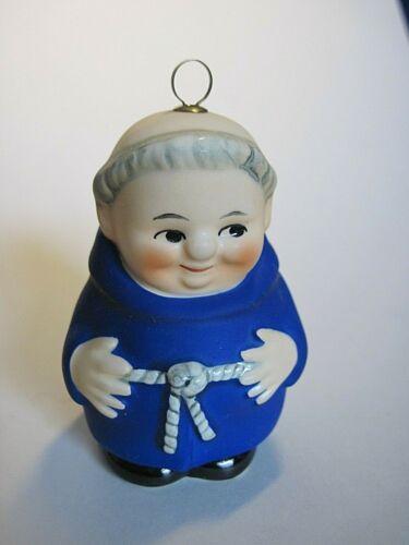 Vintage Goebel Friar Tuck Blue Ornament