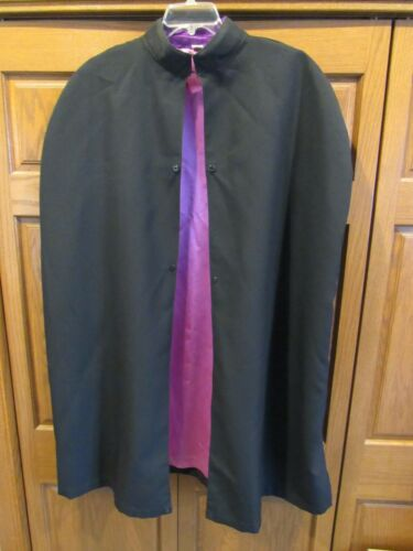 KNIGHTS OF COLUMBUS BLACK CAPE PURPLE LINING  -  LYNCH & KELLY