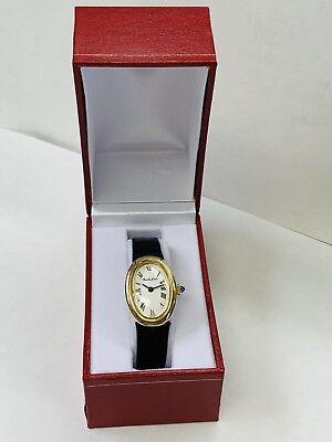 Bueche Girod 18K Yellow Gold Classic Oval Swiss Manual Wind Ladies Vintage Watch 18k Yellow Gold Swiss