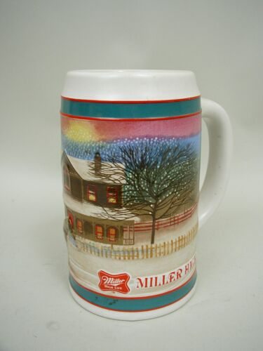 Miller High Life Holiday Traditions Stein 1985 Limited Edition