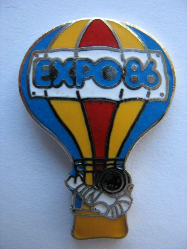 EXPO 1986 VANCOUVER LAPEL PIN - EXPO ERNIE - HOT AIR BALLOON