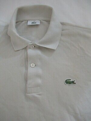 Lacoste Men's Polo Size 3 S-M SS Knit 100%Cotton French Design Made in Peru