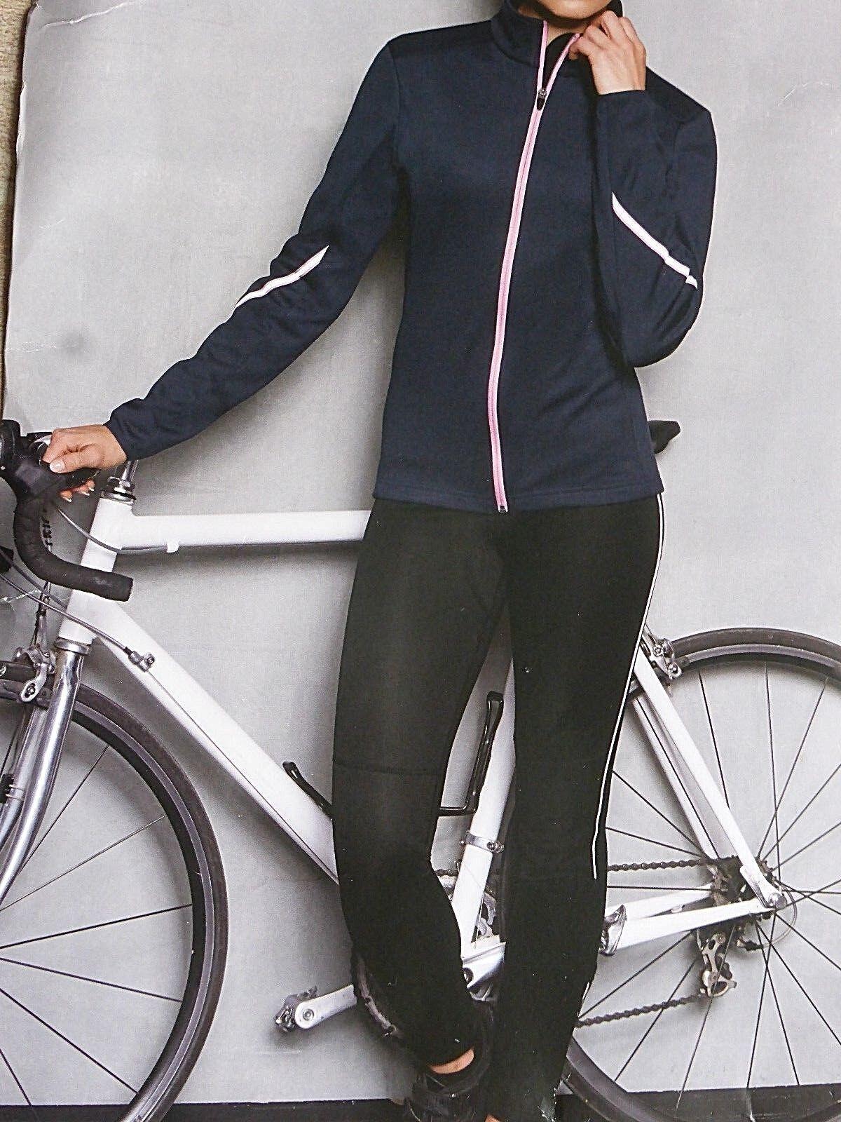 Damen Winter Radlerhose Lang Softshell Gr.38-42 Fahrradhose Öko-TEX Schwarz