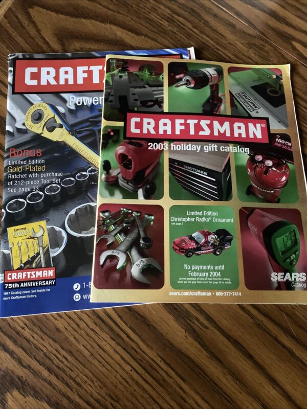 2 VINTAGE CRAFTSMAN  POWER & HAND TOOLS CATALOGS (2002 TO 2004)