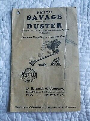 Db-smith Sprayer (DB SMITH Bug Sprayer Paper Advertisement Ad New York SAVAGE DUSTER INSECTICIDE)