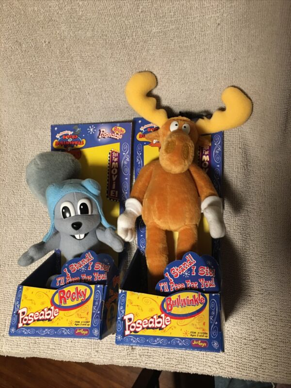 POSEABLE ROCKY AND BULLWINKLE SET