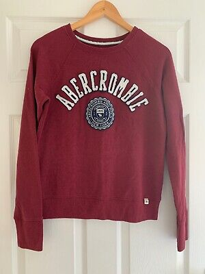 Abercrombie And Fitch Sweatshirt Burgundy Size Medium