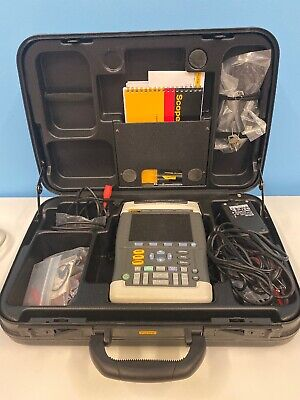 Fluke 199xray Medical Scopemeter 200mhz 2.5gss With Accessories And Case