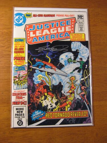 JUSTICE LEAGUE OF AMERICA #193 **SIGNED GEORGE PEREZ!** (NM-) COA