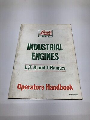 Lister Industrial Engines Lth And J Ranges Op Instructions 10 Ed. 1985