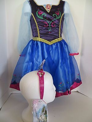 Anna from Frozen Costume Dress Elsa Size 5-6 ](Anna From Frozen Costume)