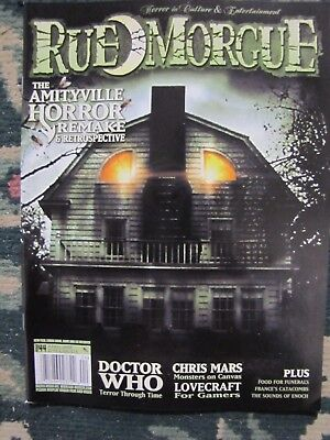 Rue Morgue # 44 Brand new  The Amityville Horror & Doctor Who - Morgue Doctor