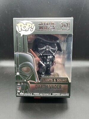 Funko Pop!Star Wars Darth Vader #343 Lights and Sound In Protector