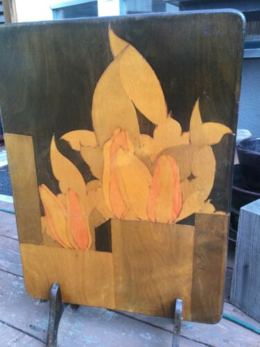 Antique wooden fireplace screen