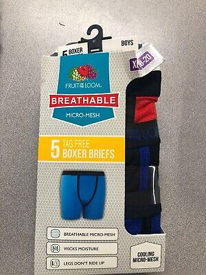 Fruit of the Loom Big Boys' 5 Pack Breathable Boxer Brief (G2)